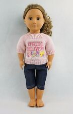 Special Delivery Pattern Sweater & Jeans For 18''American Girl Doll Clothes Gift