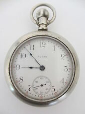 Antique Elgin Silverode Pocket Watch size 18