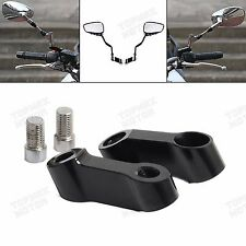 Standard Front & Right 10mm Motorcycle Bike Mirror Mount Risers Extender Adapter