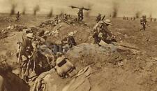 British Troops Second Wave Leaving Trenches Somme World War 1, 7x4 inch Reprint