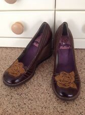 GREAT KILLAH MISS SIXTY BROWN WEDGE LEATHER SHOES UK SIZE 4(COME UP SMALL) WORN
