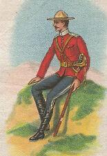 Vintage tobacco cigarette silk - use in crazy quilt -CANADA SOLDIER #53 ALTA