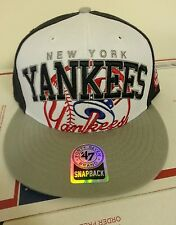 Authentic New York Yankees Adjustable cap by 47 Brand Black/White/Gray Brand New