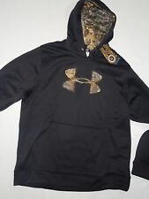 UNDER ARMOUR men's Caliber Realtree Black Hunting hoodie Sweatshirt  size XL