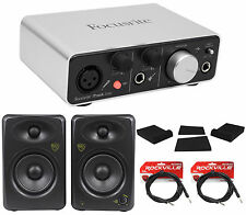 Focusrite ITRACK STUDIO LIGHTNING Recording Package+Monitors+Pads+Cables