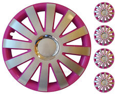 "4x15"" Wheel trims for Citroen universal hub caps  PINK/SILVER  15''"