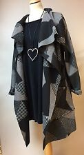 "LAGENLOOK QUIRKY ""MADE IN ITALY"" WOOL BLEND COAT/ JACKET FITS ONE SIZE 12-16 Uk"
