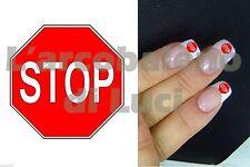 20 ADESIVI UNGHIE NAILS STICKERS CARTELLO STOP SEGNALE NAIL ART RICOSTRUZIONE