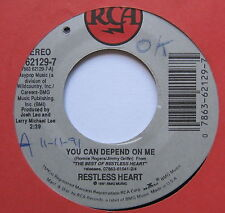 """RESTLESS HEART - You Can Depend On Me - Excellent Con 7"""" Single RCA 62129-7"""