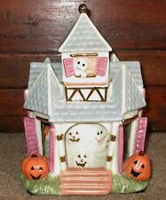 LENOX HALLOWEEN HAUNTED HOUSE MUSICAL SPINNING CAROUSEL MARCH OF MARIONETTE EXC