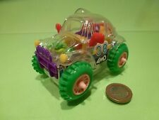 PLASTIC CHINA VINTAGE VW VOLKSWAGEN BEETLE 4WD - 9.0cm - GOOD CONDITION -BATTERY
