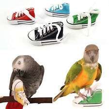Mini Canvas Shoes Bird Toy Parrot Cockatiel Cage Hanging Craft Foot Toys For Fun