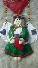 SALT DOUGH STYLE CHRISTMAS FAIRY PEACE ANGEL HANGING DECORATION