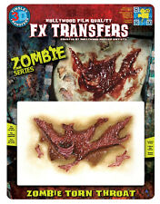 Zombie Series Torn Throat Makeup Tinsley FX 3D Transfers Costume Accessory NEW
