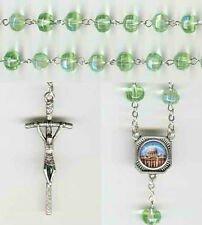 Vatican CIty Chartreuse Crystal Rosary