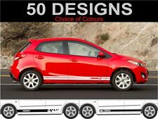 mazda 2 side stripes decals stickers graphics 2 off