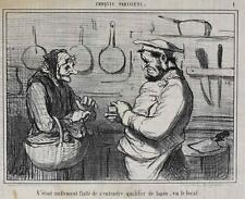 Honore Daumier France 1808-1879 Lithograph Croquis Parisiens No 1 butcher