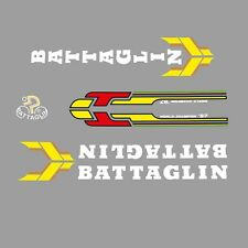 Vélo Battaglin decals, transferts, stickers-rouge/jaune/blanc n.305