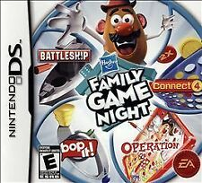Hasbro Family Game Night (Nintendo DS, 2009) GAME ONLY NICE SHAPE WORKS WELL