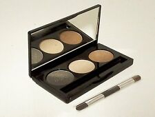 Laura Geller GOLDEN SUNSET Creme Glaze Trio Baked Eyeshadow Palette w/Mini Brush