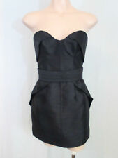 Camilla and Marc Black Raw Silk Strapless Dress Size AUS/UK 6 as new never worn