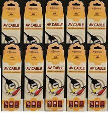 10X NEW AV Audio Video Cables for Sega Dreamcast system TOMEE NEW IN BOXES