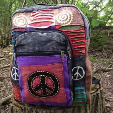 INDIE BOHO HIPPY BACKPACK BAG HIPPIE BEACH PEACE SHOULDER FESTIVAL RUCKSACK