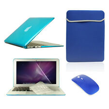 "5 in1 Crystal AQUA Case fr Macbook Air 11""+Key Cover+LCD Screen+Sleeve Bag+Mouse"