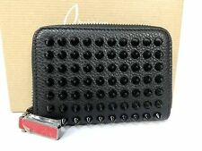 Auth Christian Louboutin Leather Zippy Zip Around Coin Case Purse Unused T521
