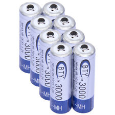 8x AA 3000mAh 1.2 V Ni-MH rechargeable battery BTY cell for MP3 RC Toys Cam