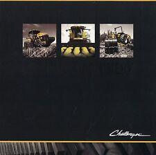 Prospekt Challenger Serious Machinery 2002 Landmaschinen Trecker tractors Mäher