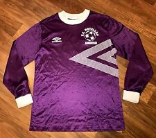 Vtg 80s UMBRO Purple White SOCCER Puyallup Seattle Long Sleeve Jersey Adult S M