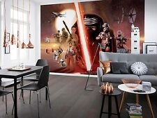 BIG Wall Mural Photo Wallpaper STAR WARS EP7 COLLAGE Kids Room Decor Art 368x254
