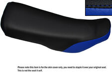 BLACK & ROYAL BLUE CUSTOM FITS HONDA CR 500 1985 DUAL LEATHER SEAT COVER