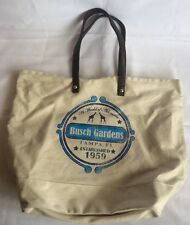 Busch Gardens Zoo Tampa FL Canvas Bag Duffel Purse Giraffe World Of Adventure