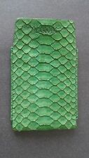 LANVIN Green Snake Skin Iphone/Credit Card Case Small Wallet