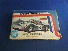 Vintage 1976 Speedy Wheels Lindberg Porsche Carrera Model Box