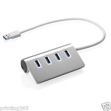 Aluminium 4Port USB 3.0 Hub Verteiler Splitter Adapter für Laptop MAC Notebook