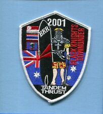 VF-154 BLACK KNIGHTS DOWN UNDER 2001 US NAVY F-14 TOMCAT Squadron Cruise Patch