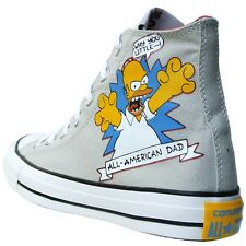 CONVERSE ALL STAR CHUCKS EU 41,5 GB 8 BART HOMER SIMPSONS GRIS LIMITED EDITION