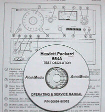 HP 654A Test Oscilator Operating and Service Manual