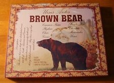 BROWN BEAR IN WOODS CANVAS ART PRINT Rustic Lodge Log Cabin Wall Decor Sign NEW