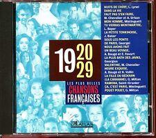 LES PLUS BELLES CHANSONS FRANCAISES - 1920 / 1929 - CD COMPILATION ATLAS