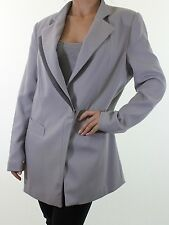 NEXT tailoring grey long boyfriend blazer duster jacket coat size 16 euro 44
