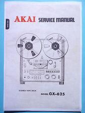 Service Manual-Anleitung für Akai GX-625