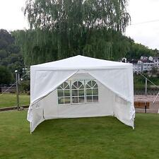 10'x10'Outdoor Sun Shade Canopy Party Tent Sidewall with Windows White