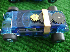 1 New Blue Autoworld Thunderjet 500 Ultra G Mag HO Slot Car Chassis Fits Aurora