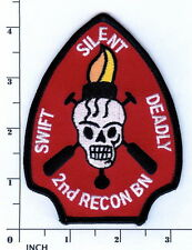 USMC 2nd Recon Battalion PATCH OIF Iraq 2d Recon Bn Marines Swift-Silent-Deadly!