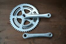 Vintage 1984 SR Custom Alloy Crank Set Chainset 165mm 52 42T Engraved Japan