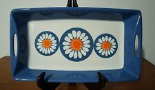Vintage Figgjo Flint Turi Design Daisy Made in Norway Handled Tray